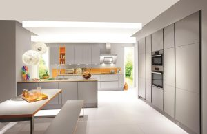 Laser Handleless Mineral Grey Kitchen 413