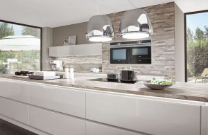 Lux Satin Grey High Gloss Island 819
