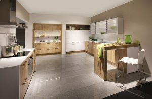Rio Premium White Ultra High Gloss with Oak Provence 698