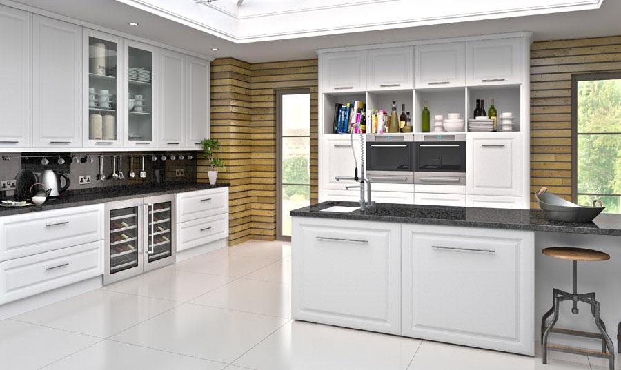 Bella Satin White York1 Dirragh Kitchens And Interiors